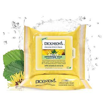 Dickinson's original witch hazel daily cleansing cloths, 25 ea