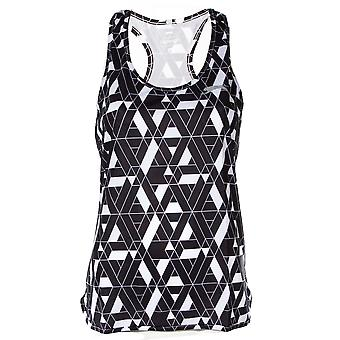Slazenger Ennis v2 Womens Ladies Graphic Fitness Training Vest Tank Black/White