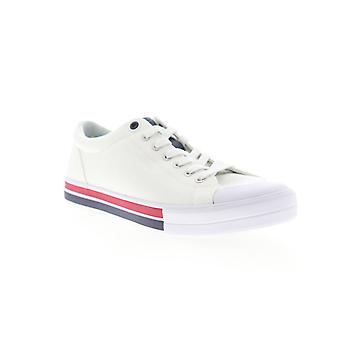 Tommy Hilfiger Reno  Mens White Canvas Casual Fashion Sneakers Shoes