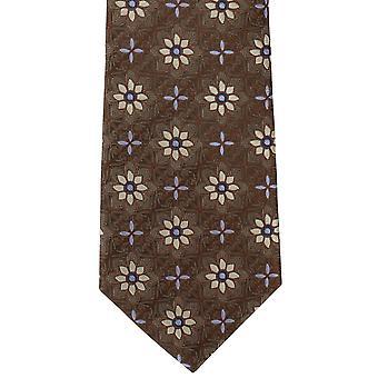 מייקלסון של לונדון אריח מדליון משי עניבה-חום