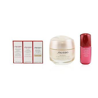 Shiseido Anti-Wrinkle Ritual Benefiance Wrinkle Smoothing Cream Set (For All Skin Types): Wrinkle Smoothing Cream 50ml + Cleansing Foam 5ml + Softener Enriched 7ml + Ultimune Concentrate 10ml + Wrinkle Smoothing Eye Cream 2ml 5pcs+1pouch