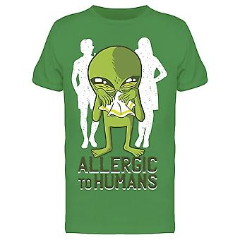 Allergic To Humans Alien  Men's T-shirt