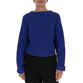 Semi-couture Y0sh11l05 Women's Blue Cotton Sweater