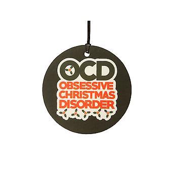 OCD Obsessive Christmas lidelse bil Air Freshener