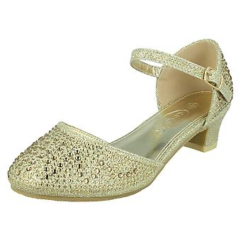 Mädchen Spot auf Schnalle Knöchel Strap Glitter Schuhe H3084