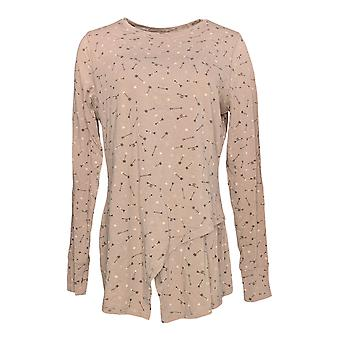 Anybody Women's Top Cozy Knit Crossover Long Sleeve Pink A292757