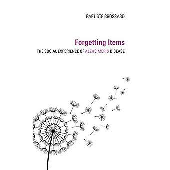 Forgetting Items - The Social Experience of Alzheimer's Disease by Bap
