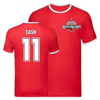 Matty Cash Nottingham Forest Ringer Tee (Röd)