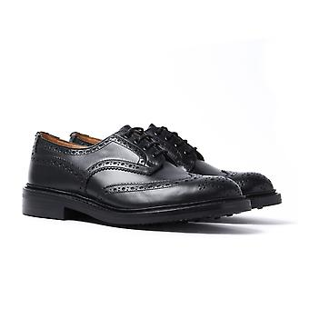Tricker's Bourton Black Leather Brogue Shoes