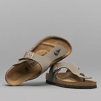 Birkenstock Ramses 44051 (reg) Unisex Birko-flor Toe Post Sandals Stone