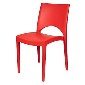 Sedia Paris Color Rosso in Polipropilene 47,5x51x80 cm