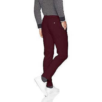 Essentials Men's Slim-Fit Casual Stretch Khaki, Borgogna, 42W x 28L