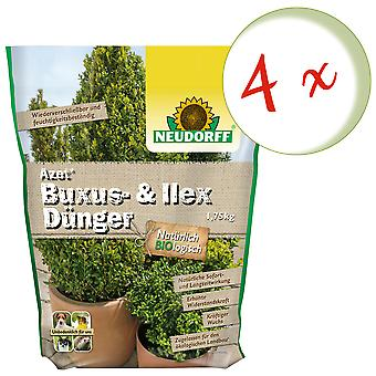 Sparset: 4 x NEWDORFF Acetate® Buxus & Ilex Fertilizer, 1.75 kg