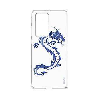 Hull For Huawei P40 Pro Soft Blue Dragon
