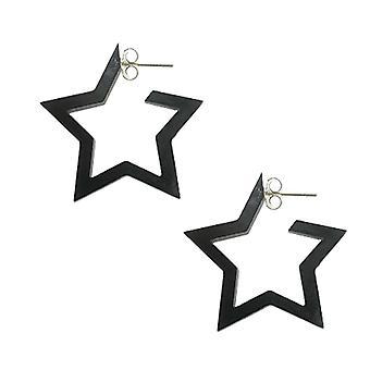 Sort UV React Star Øre hoop