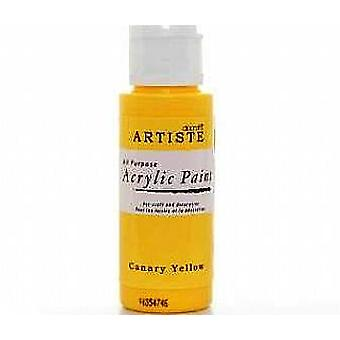 Canary Yellow docrafts Artiste All Purpose Acrylic Craft Paint - 59ml