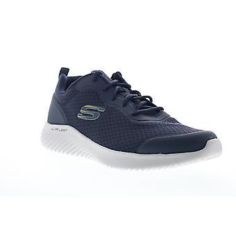 Skechers Bounder Voltis  Mens Blue Mesh Athletic Cross Training Shoes