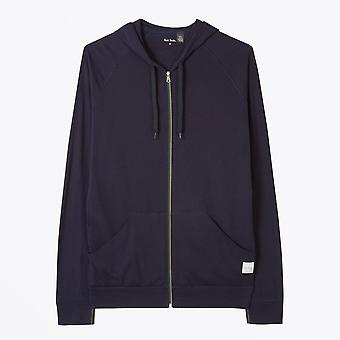 Paul Smith  - Jersey Cotton Lounge Hoodie - Navy