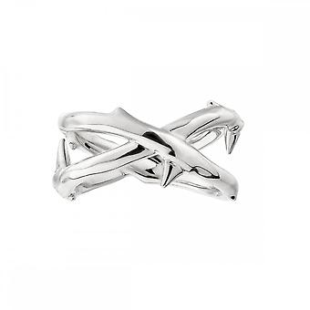 Shaun Leane Sterling Silver Rose Thorn Wide Band Ring