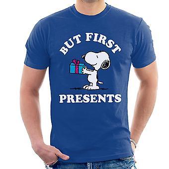 Orzeszki ziemne Boże Narodzenie, ale pierwszy przedstawia Snoopy Męski t-shirt