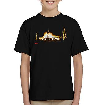 NASA Soyuz Rocket Launch Shot Kid's T-Shirt