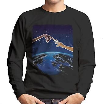 E.T. Earth Movie Poster Men's Sweatshirt