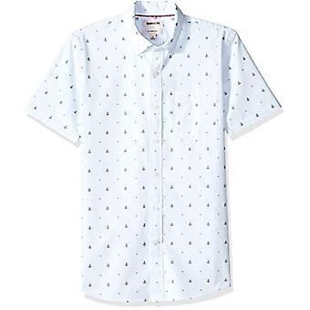 Goodthreads Men's Slim-Fit Short-Sleeve Dobby Shirt, -ljusblå ankare, XX-L...
