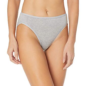 Essentials Women's Cotton Stretch Hi-Cut Brief Panty, Neutral Prints, ...