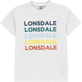 Lonsdale Rainbow Logo T Shirt Junior Boys