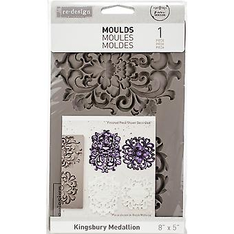 Re-Design with Prima Kingsbury Medallion 5x8 Inch Mould
