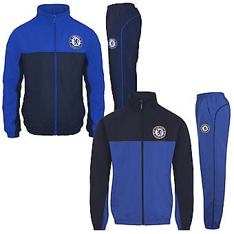 Chelsea FC Boys Tracksuit Jacket & Pants Set Kids OFFICIAL Football Gift
