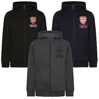 Arsenal FC officiella Fotboll Gift Boys Fleece Zip Hoody