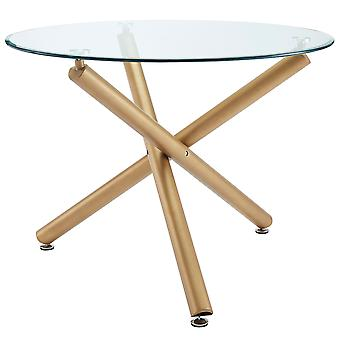 Asher Dining Table - Gold