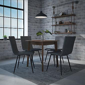 Adalyn/Jacob 5Pc Dining Set - Walnut Table/Blue Chair