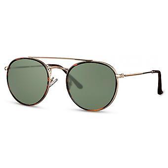 Solglasögon Unisex pilot/panto kat. 3 guld/grön