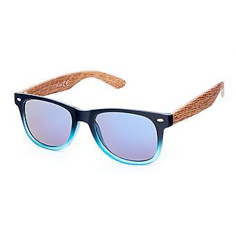Solglasögon Unisex Wayfarer blå/transparent (20-191)