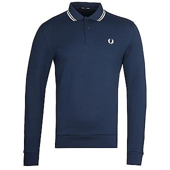 Fred Perry Long Sleeve Navy Tipped Polo Shirt