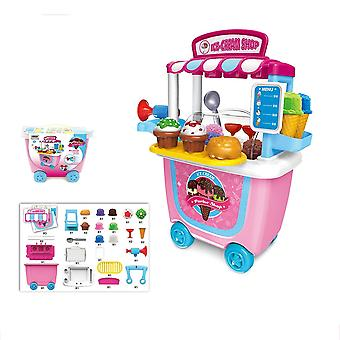 Children Christmas Birthday Gift 31pcs/set Kids Pretend Role Play Ice Cream Food Truck Groceries Toy