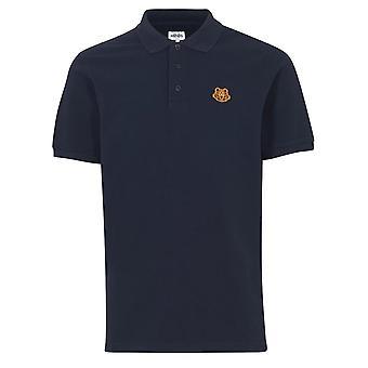Kenzo - France | T-shirt 5po001 Tiger Crest Polo Half Sleeve - Marine