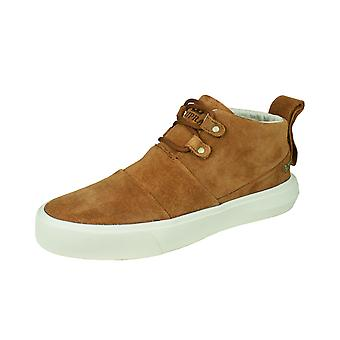 Supra Charles Mens Suede Casual Trainers / Mid Tops - Brown