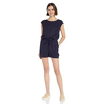 Brand - Daily Ritual Women's Tencel Short-Sleeve Romper, Navy, 10