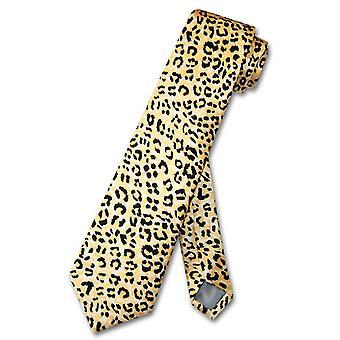 الفهد جلد الحيوان طباعة التصميم العنق التعادل 100 ٪ الحرير الإربة الصبي