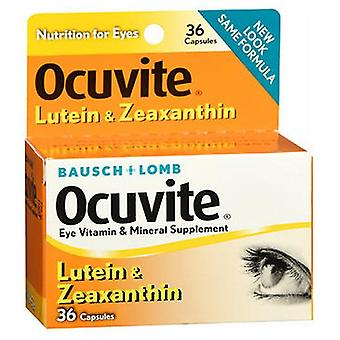 Bausch And Lomb Ocuvite Lutein Eye Vitamin And Mineral Supplement Capsules, 36 caps