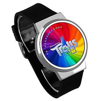 Impermeable Luminoso LED Digital Touch Reloj - Trolls #15