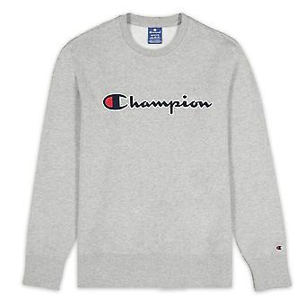 Champion Script Logo Fleece Crewneck 214720EM031 universel toute l'année hommes sweat-shirts