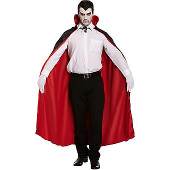 Henbrandt Halloween Fancy Dress Costume - Adulto Unisex - Capo Rosso Reversibile