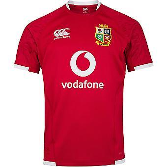 Canterbury British & Irish Lions 2021 Mens Pro Jersey Shirt Tee Red