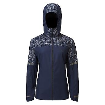 Ronhill Life Nightrunner Womens Hi-vis & Reflective Water Resistant Running Jacket Deep Navy/reflect