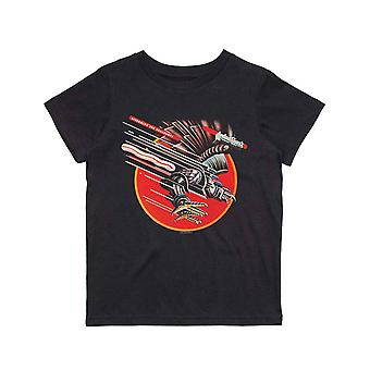 Judas Priest Kids T Shirt Screaming For Vengeance Official Black Ages 5-14 yrs