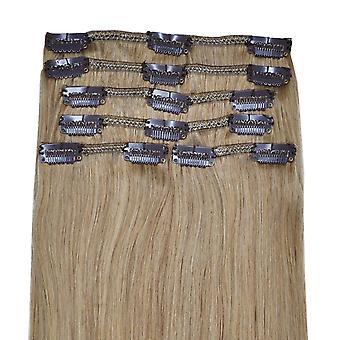 #18 kultainen blondi - Leike hiustenpidennyksissä - Full Head - DELUXE - #18 - Kultainen blondi